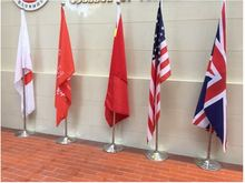 6.6 ft indoor worldwide national flag pole with standing base floor type essential for office exhibition 2m flying flag