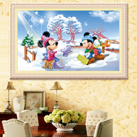 5D DIY Diamond Painting Cross Stitch Needlework Mosaic Diamond Embroidery Mickey Mouse Pattern Hobbies 79 49CM