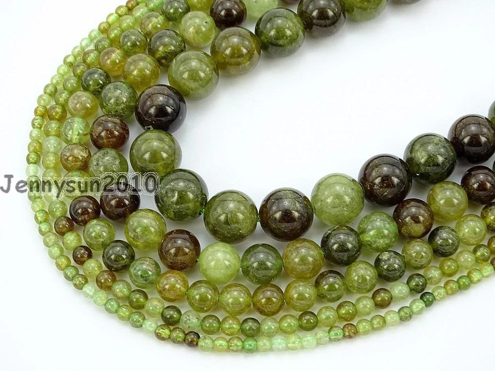 Natural Tsavorite Gemstone Round Spacer Loose Beads 15/'/' 4mm 5mm  8mm 10mm 12mm