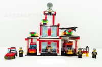 Free Shipping Hot Sale Fire House Series Building Blocks Set Toy For Children