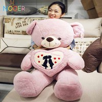 Nooer 70CM Stuffed Teddy Bear Plush Toy Bear Holding Love Heart Soft Plush Doll Birthday And Valentine's Gifts For Girls