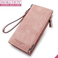 Vintage Women Wallet Special Mobile Phone Pocket Purse PU Leather Women Purse Female Wallet Card Holder Long Lady Purse 2018 new