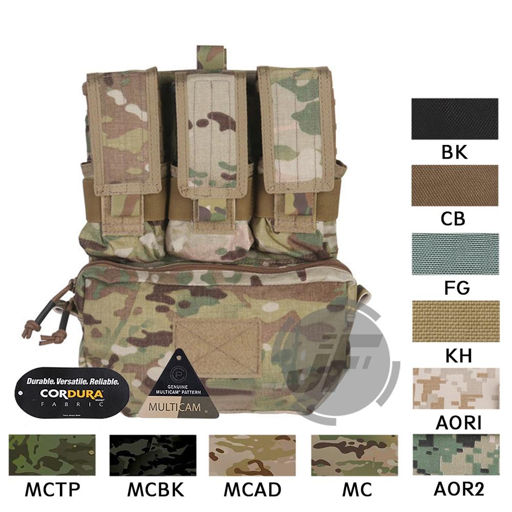 Emerson Tactical MOLLE Assault Pack Panel EmersonGear Plate Carrier Back Bag w/ M4 M16 Magazine Pouch for CPC NCPC AVS Vest