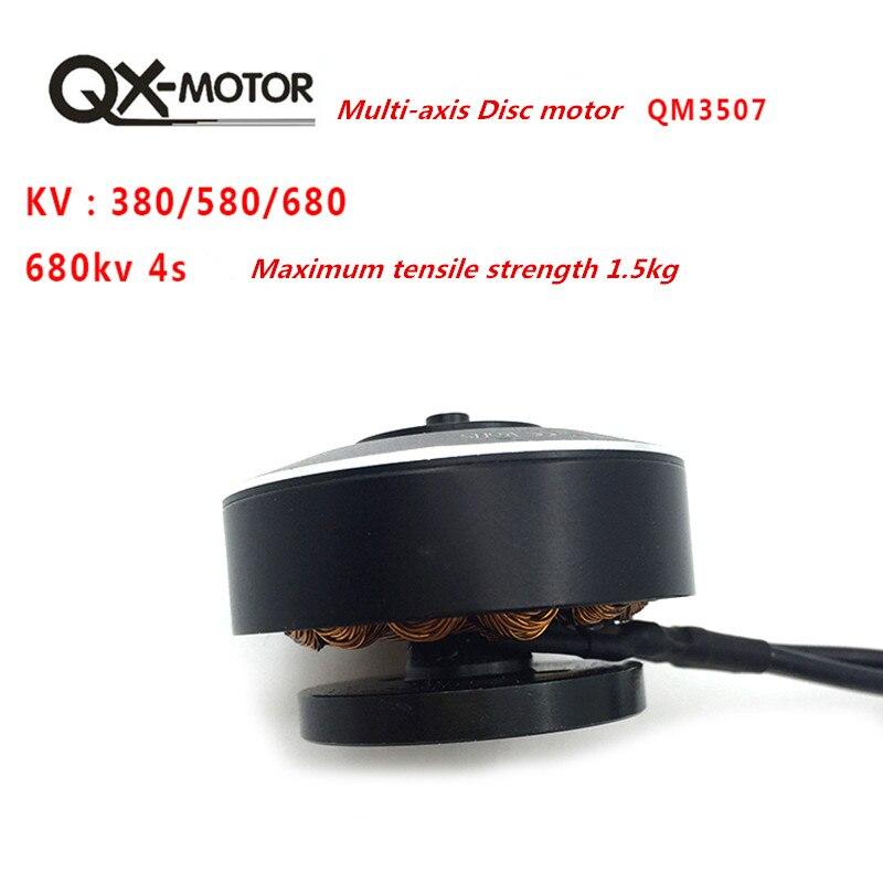 QX MOTOR QM3507 380/580/680KV moteur Brushless pour RC Multirotor quadrirotor Hexa Drone pièces en gros - 3