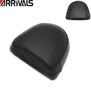 Motorcycle Sissy Bar Backrest Black Seat Cushion Pad For Harley Choppers Universal Synthetic Leather