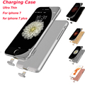 External 1500-2000mAh Power bank Pack backup battery Charger Case For iPhone 7/ 7Plus Slim Ultra Thin Rechargeable Battery Case
