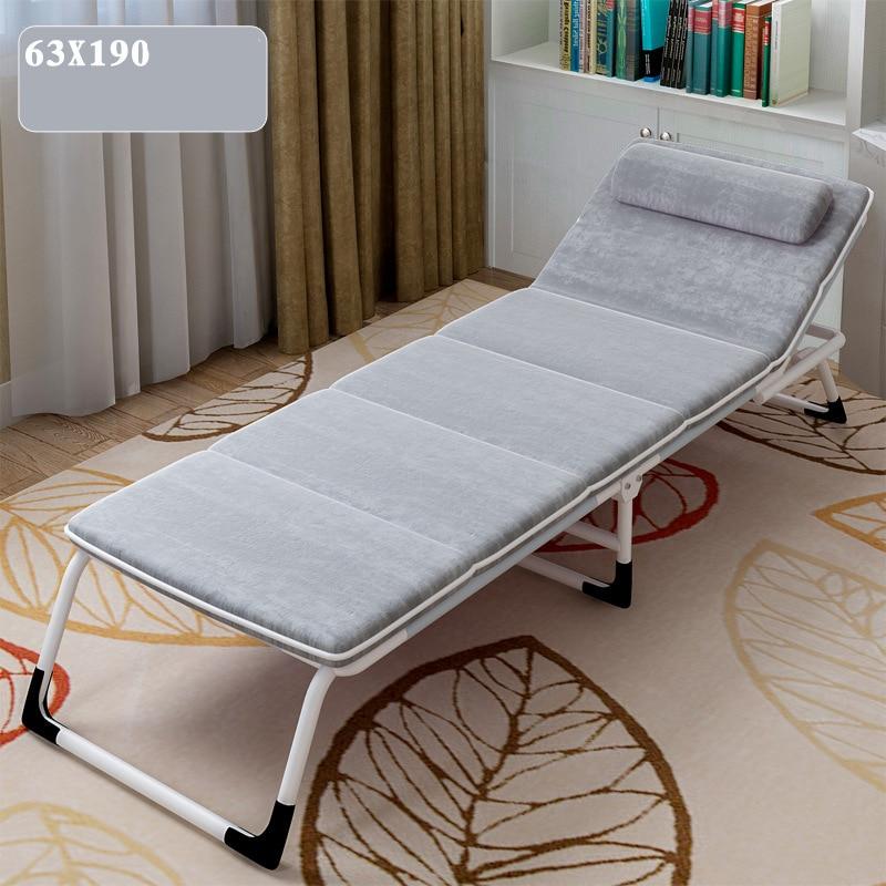 Многофункциональная Простая Современная односпальная кровать для дома, офиса, отдыха, обеденный перерыв, шезлонги, пляж, балкон, лежащая кр... - 3