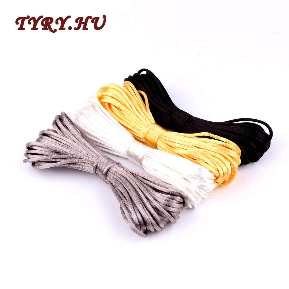 TYRY.HU Satin Nylon Beading Cord Silk Macrame Rope Kumihimo Shamballa For Diy Bracelet Necklace Jewelry Making Accessories 10mTYRY.HU Satin Nylon Beading Cord Silk Macrame Rope Kumihimo Shamballa For Diy Bracelet Necklace Jewelry Making Accessories 10m