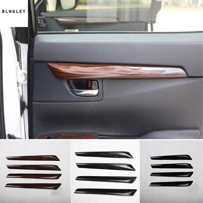 4 pcs/lot ABS fibre de carbone ou grain de bois quatre portes intérieures décoration couverture pour 2013-2017 LEXUS ES250 ES300H ES350