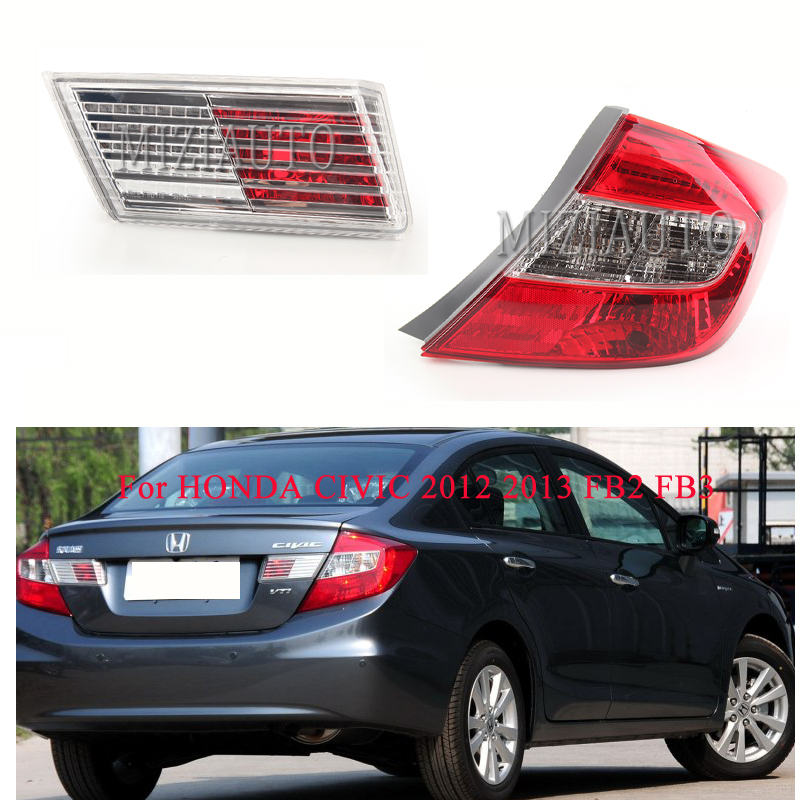 MIZIAUTO 1PCS Tail Rear Light For HONDA CIVIC 2012 2013 FB2 FB3 Trunk Lamp Car-Styling Brake Bumper