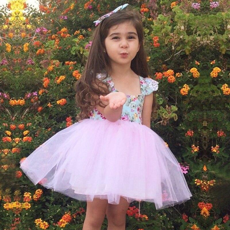Newborn Tutu Chiffon Tulle Dress Baby Girls Dress 2019 -7122