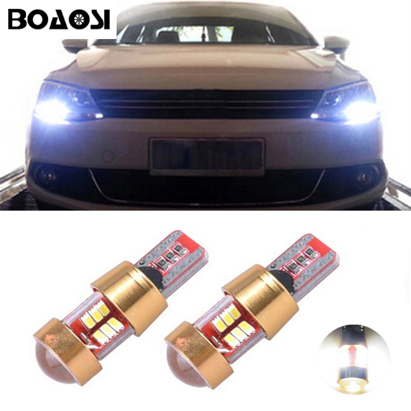 BOAOSI 2x Car LED T10 Canbus W5W No error Wedge Light for VW POLO Golf 5 6 7 GTI Passat B5 B6 B7 Jetta Bora MK5 MK6 Tiguan