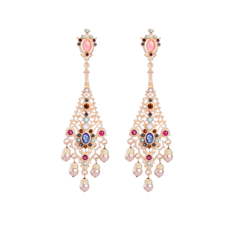 Bulk Price Colorful Resin Acrylic Crystal Pending Earrings New - Acrylic chandelier crystals bulk