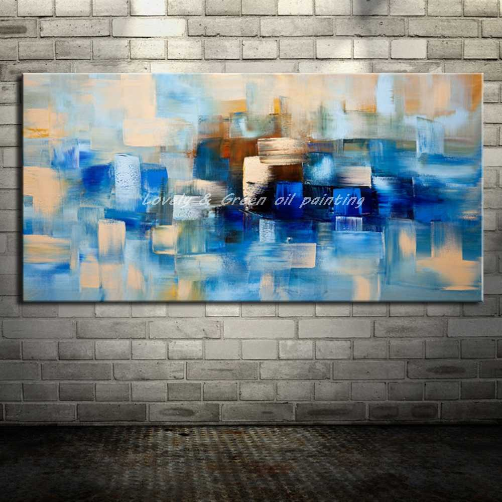 Beautiful Colorful Home Decor Oil Painting Modern Abstract Wall Picture Hand Painted Canvas Oil Painting For Wall Decor Unframed