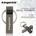 Kingstick U disco de Aço Inoxidável USB Flash Drive com Chaveiro Pen Drive 4 GB 8 GB 16 GB 32 GB 64 GB Pendrive USB 2.0 Memória vara