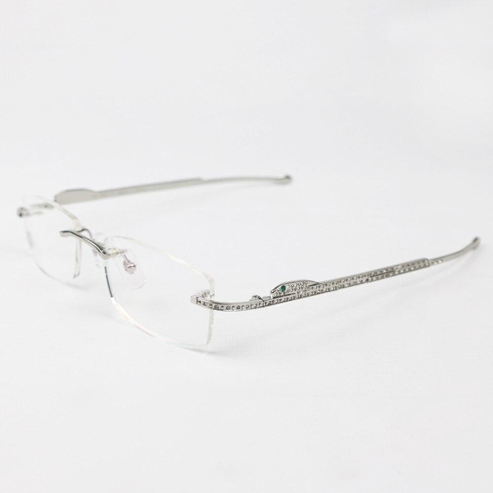 Panther lunettes cadre Carter lunettes de soleil pour femmes et hommes sans monture lunettes pour lire luxe décoration Gafas 0146 - 5
