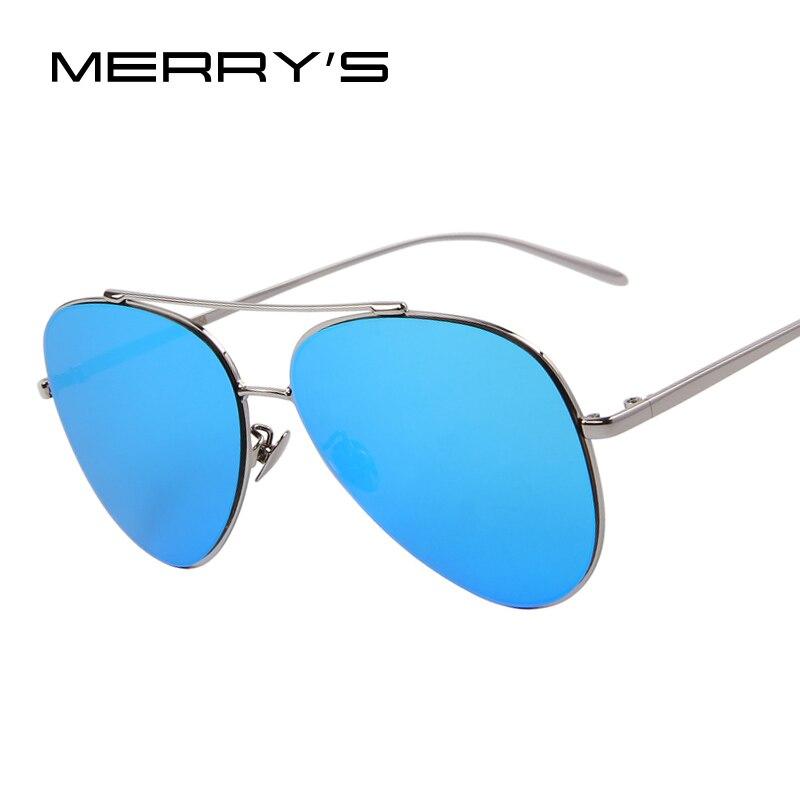 MERRY'S Fashion Women Summer Sunglasses Men Ultralight Frame Sunglasses Flat Coating Mirror Lens Oculos de sol UV400