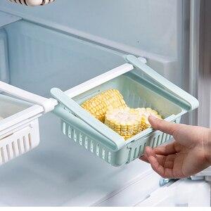 Image 5 - Estante de almacenamiento de cocina organizador de cocina accesorios de cocina organizador estante de almacenamiento caja de almacenamiento de nevera