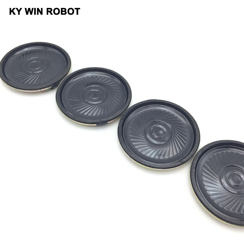 Купить с кэшбэком 5pcs/lot New Ultra-thin speaker 8 ohms 0.5 watt 0.5W 8R speaker Diameter 40MM 4CM thickness 5MM