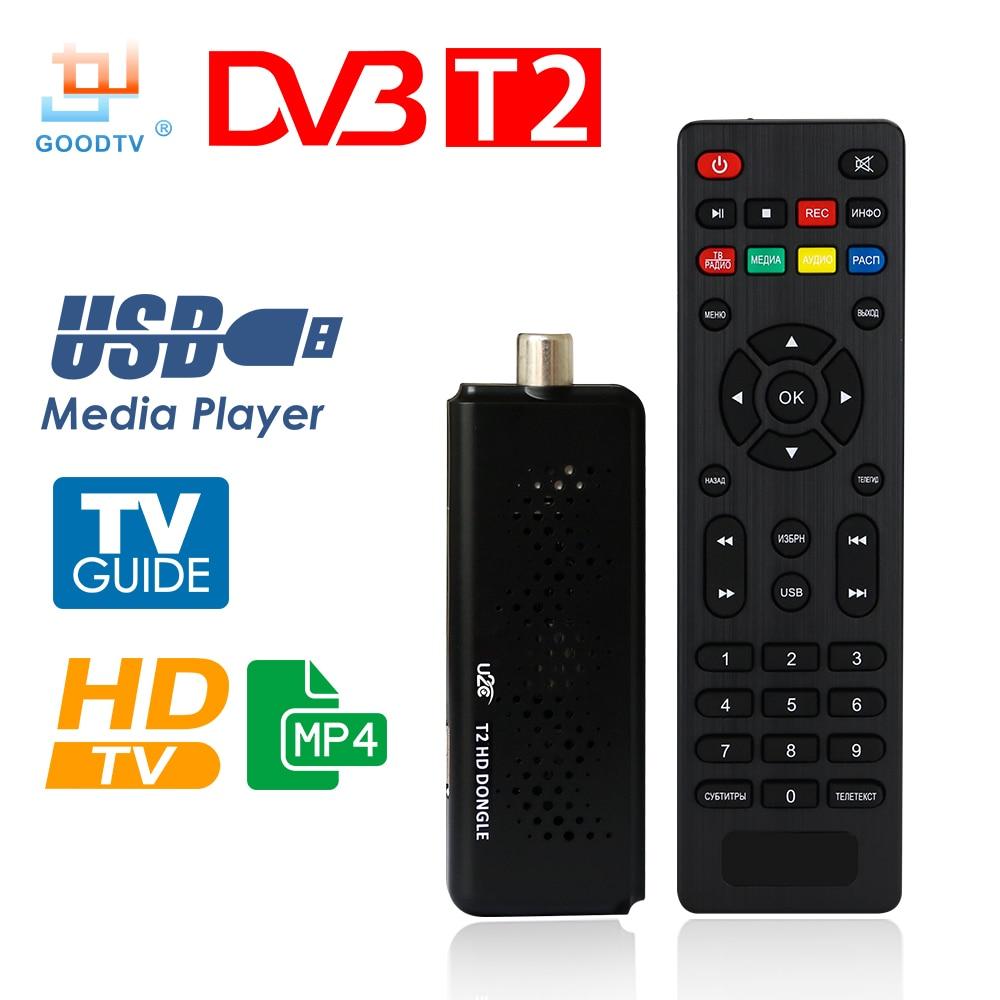 U2C ТВ-карты DVB-T2 1080 P цифрового наземного ТВ приемник Декодер каналов кабельного телевидения dvb-t/T2 H.264 MPEG4 ичм USB ТВ-тюнер