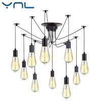 Modern Retro Edison Bulb E27 Vintage Lamps Antique DIY Art Spider Pendant Lights 2 Meters Line