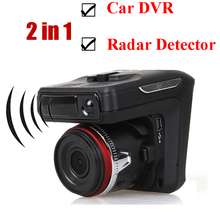 Russia or English voice 2 in dash cam Anti Radar Detector G-sensor Night vision free shipping used all over the world