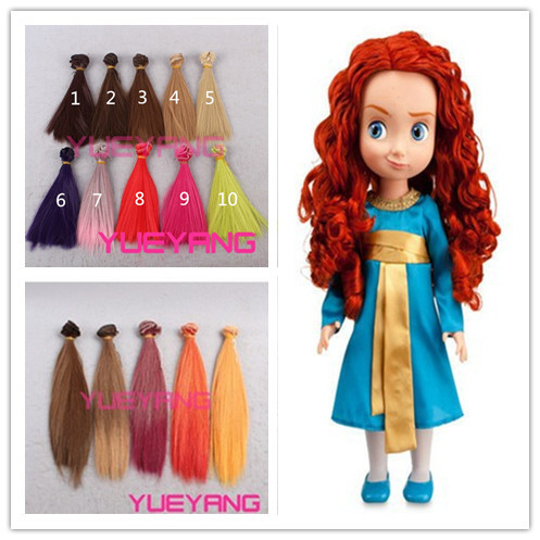 High quality 15cm100cm synthetic colorful straight doll hair high quality 15cm100cm synthetic colorful straight doll hair extension for 13 1 pmusecretfo Gallery