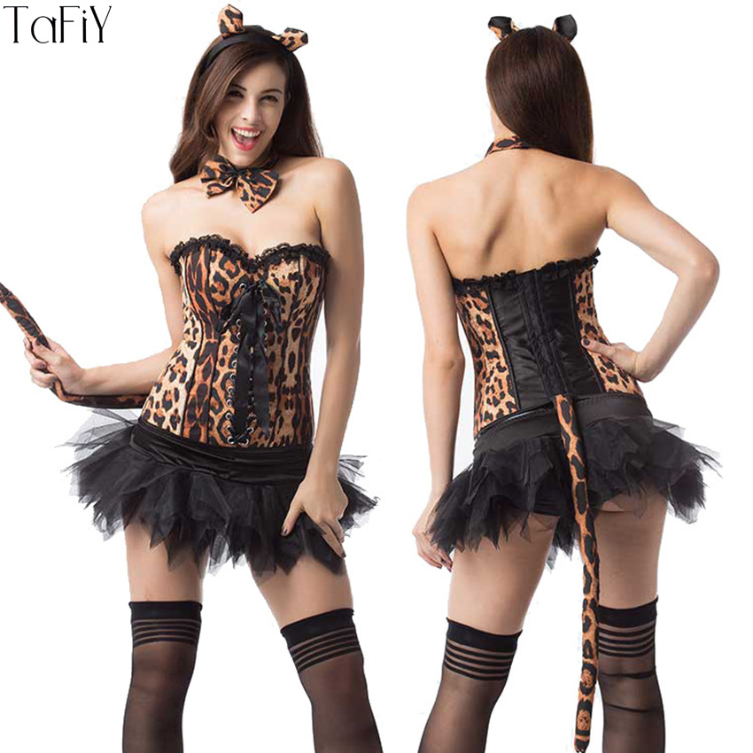TaFiY 2017 Sexy Womenu0027s Cosplay Corset Leopard Cat Jumpsuit Women Catwoman Costume Catsuit Fantasy Halloween Sexy Adult Costumes-in Holidays Costumes from ...  sc 1 st  AliExpress.com & TaFiY 2017 Sexy Womenu0027s Cosplay Corset Leopard Cat Jumpsuit Women ...