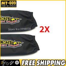 2X Universal Rockstar Shock Protector Cover 350mm for Motorcycle Suzuki LTZ 400 Quad ATV KFX400 Yamaha YFZ 450 free shipping