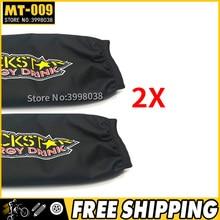 2X Universele Rockstar Shock Protector Cover 350mm voor Motorfiets Suzuki LTZ 400 Quad ATV KFX400 Yamaha YFZ 450 gratis verzending