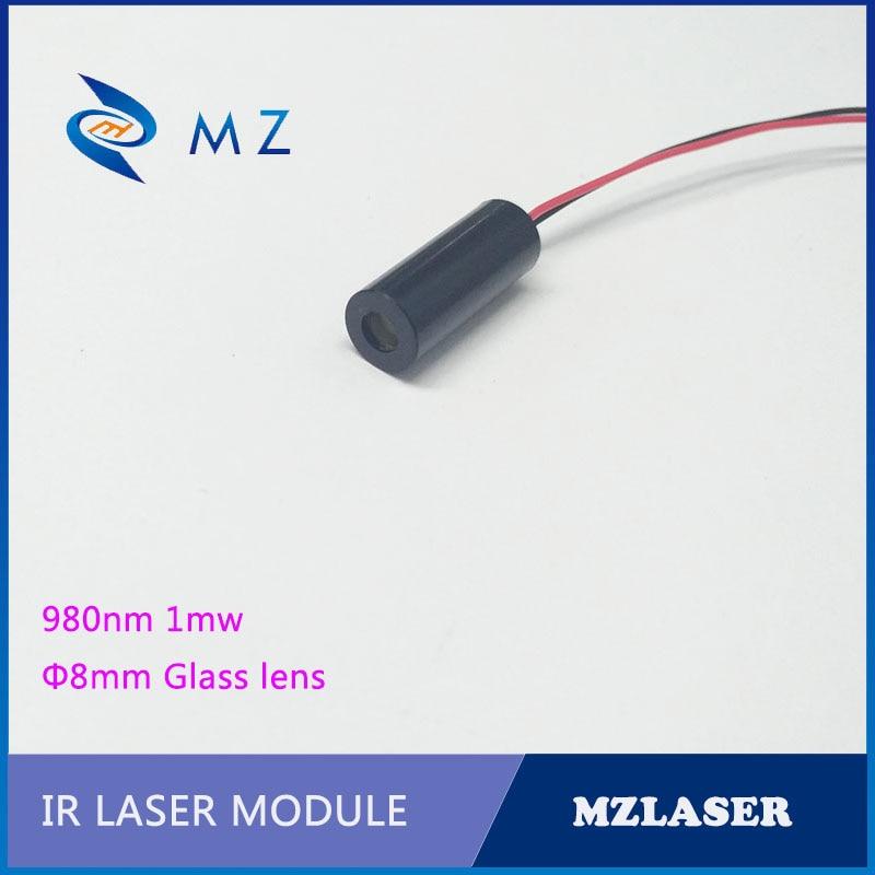 IR Laser Module 8mm 980nm 1mw Dot IR Laser Infrared Invisible Light.Industrial Laser Module