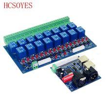 Interruptor do Relé do Controlador dmx512 16CH, saída de relé, relé de controle DMX, 16way interruptor do relé (max 10A), alta tensão luzes led