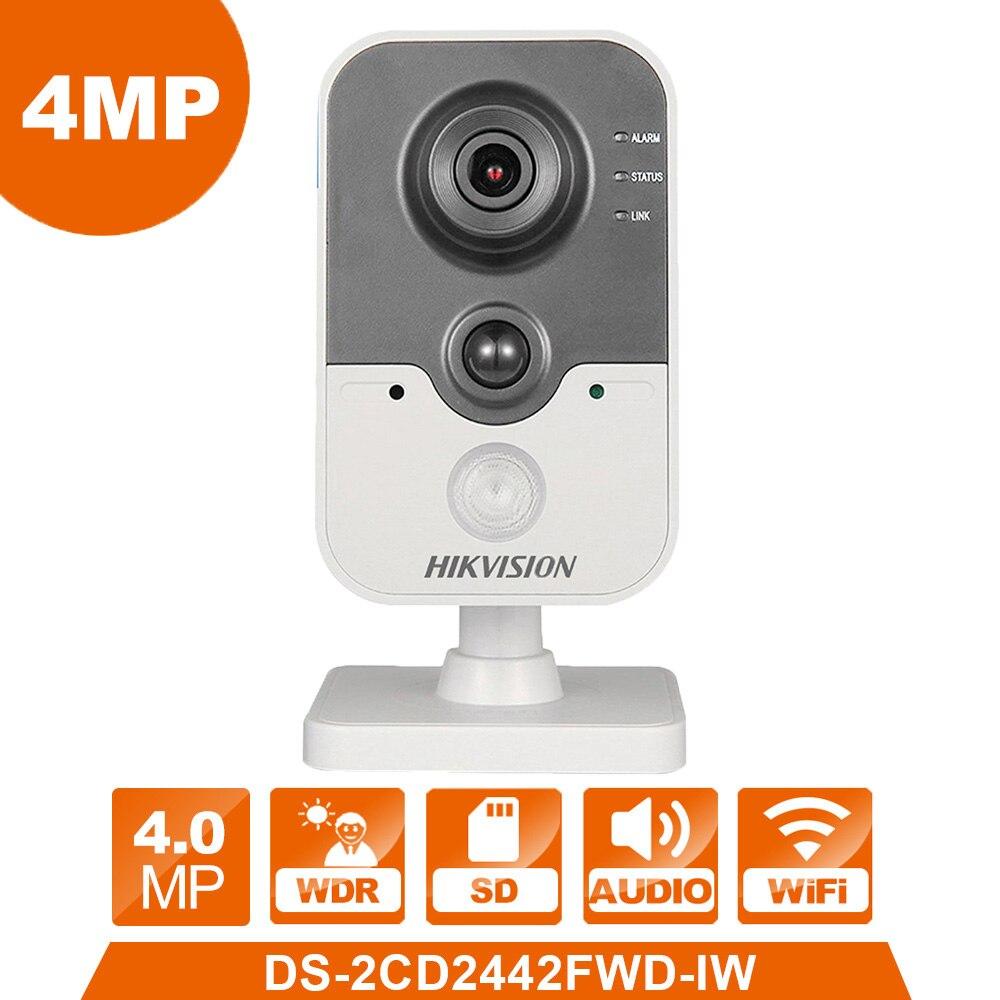 WIFI Caméra DS-2CD2442FWD-IW hikvision IP Caméra Sans Fil Cube webcam 4.0MP videcam caméra de surveillance système d'alarme Webcam