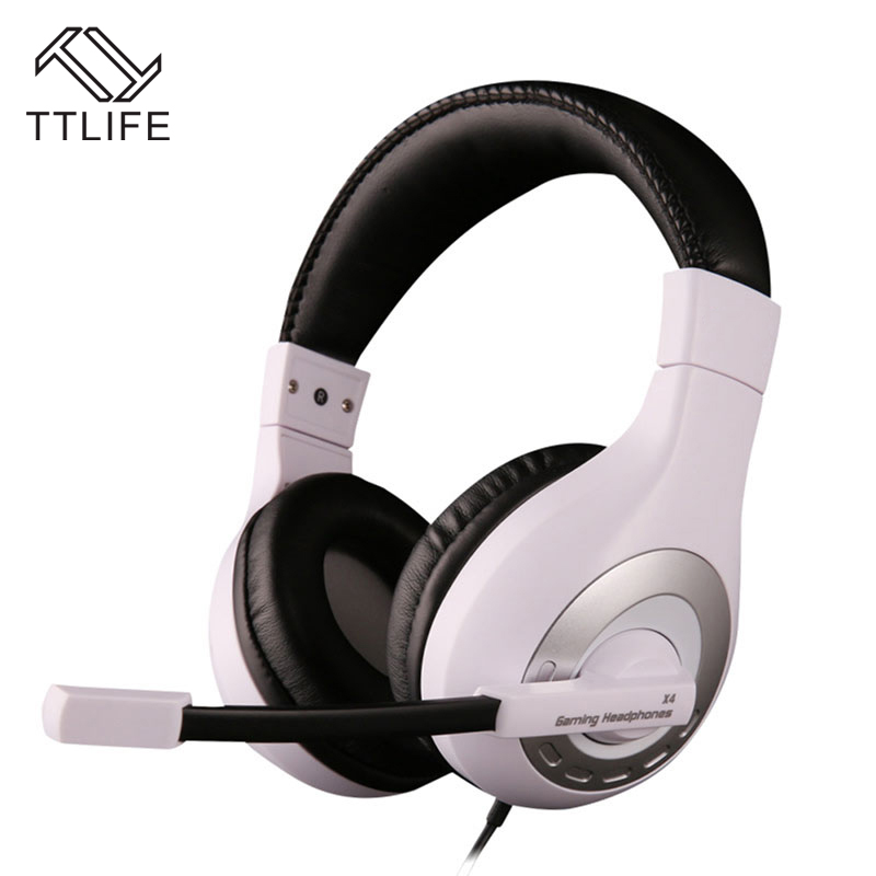 Original TTLIFE Brand Gaming Wired Headset Stereo Bass Noise Isolating Headphone with Microphone for PC Computer Gamer fone high quality gaming headset with microphone stereo super bass headphones for gamer pc computer over head cool wire headphone