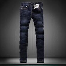 blue contracted man s jeans men Casual pants trousers male designer brand pants straight new boy