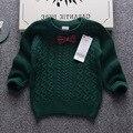2016 осень бренд высокого качества Джентльменский стиль мальчик свитер грубой иглы хлопок утолщаются мягкие и удобные теплые топы