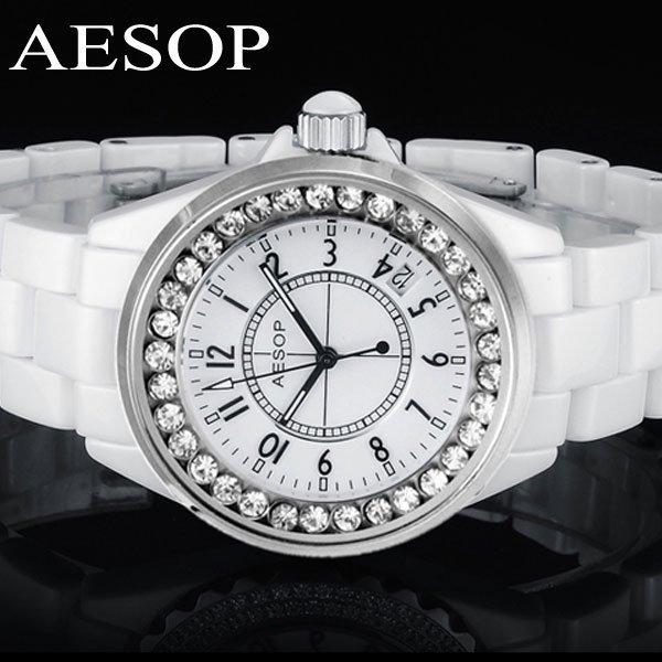 Aesop watch ceramic fashion wristwatch Luminous dial women's quartz watches brand new design 9930 free shipping