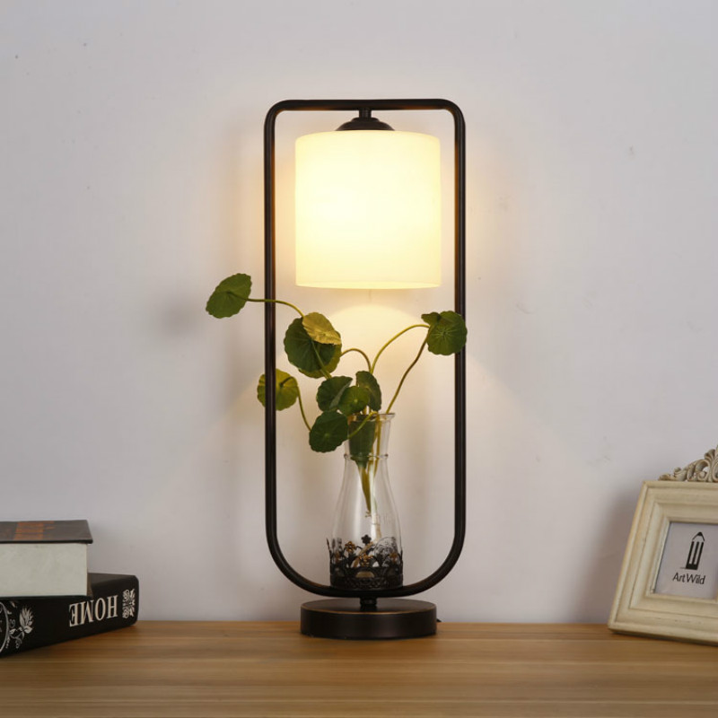 Modern Brief Art Creative Hydroponic Green Plants Pot Led E27 Table Lamp For Living Room Bedroom Bedside Bar Decoration 1946 цена