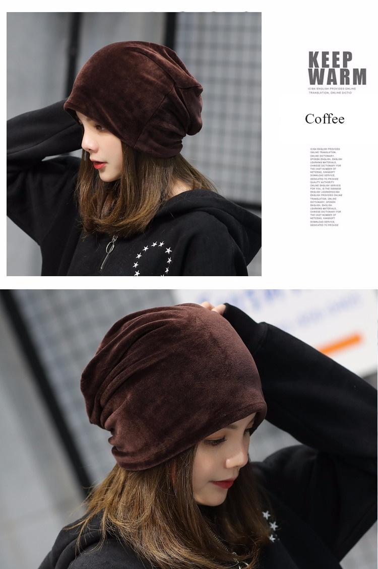 Chapeau en coton chaud élastique Automne Hiver