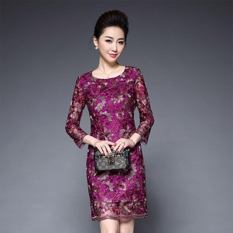 Mode broderie grande taille 5XL robes de soirée élégante dentelle raffinée robe moulante femmes robe de noël femmes