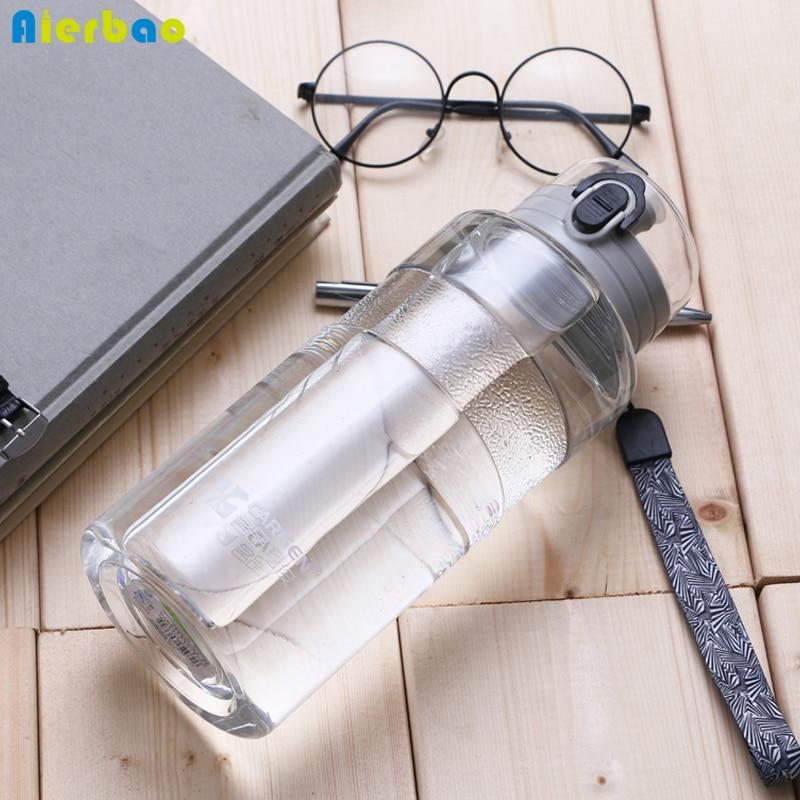 1000 ml Eco Friendly & BPA Tritan Gratuit En Plastique Sport Bouteille D'eau Avec Fuite Preuve Flip Top Couvercle Grande Capacité potable Bouteille