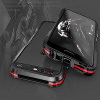Luphie Odporny Na Wstrząsy Coque Aluminium dla Huawei P10 Metal Blade zderzaka Ramy Skrzynki Pokrywa Smart phone