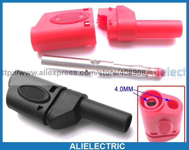 ФОТО 20pcs Copper 4mm Banana Plug Multimeter Test Probes Terminal Binding Post Cables