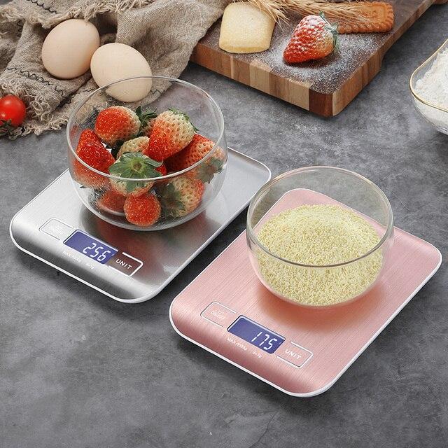 Balance de Cuisine électrique plate-forme avec écran LCD cuisson alimentaire Cuisine Balance postale Balance outils de cuisson 2
