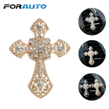 FORAUTO Car Air Freshener Clip Vents Perfume Cross Auto Outlet Perfume Alloy Crystal Car-styling Fashion Interior Accessories