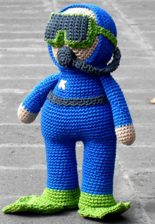 цена на crochet baby amigurumi Firefighter rattle toy doll