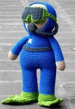 crochet baby amigurumi Firefighter rattle toy doll