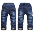Retails new arrival 2015 brand winter thick cashmere kids jeans for Boys girls trousers baby warm jeans children pants for kids