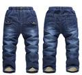 Ventas al por menor nuevo llegada 2015 marca invierno gruesa de cachemir vaqueros para niñas pantalones pantalones de bebé calientes niños pantalones para niños