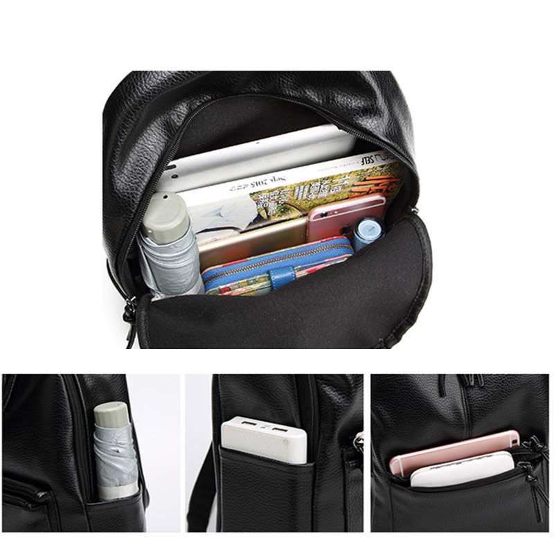 d81d16284f5 Bolish New Travel Backpack Korean Women Female Rucksack Leisure Student  School bag Soft PU Leather Women Bag-in Backpacks from Luggage   Bags on ...